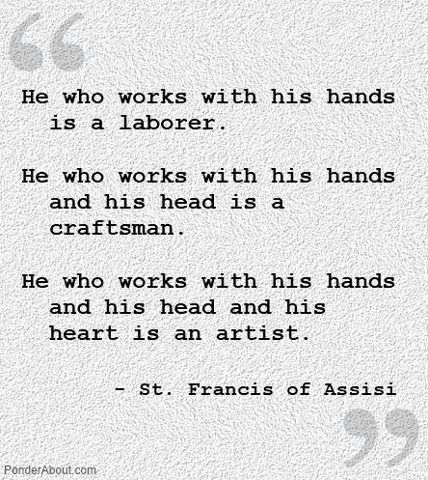 You Know You are an Artist if…