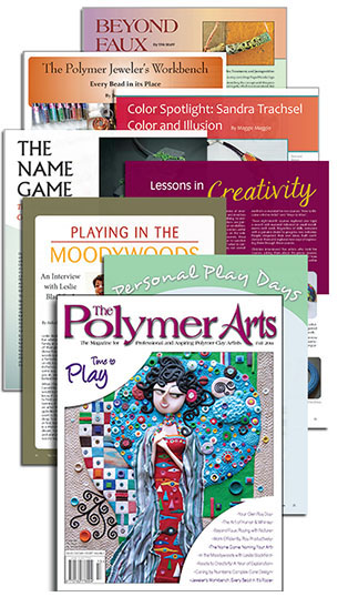 The Polymer Arts Fall 2014 - Time to Play collage