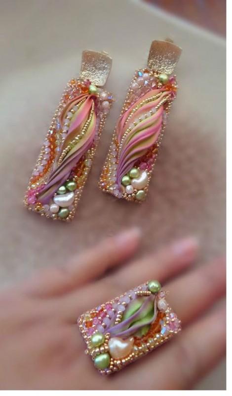 serena Di Mercione earring ring set