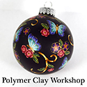 polymer clay butterfly ornament sm