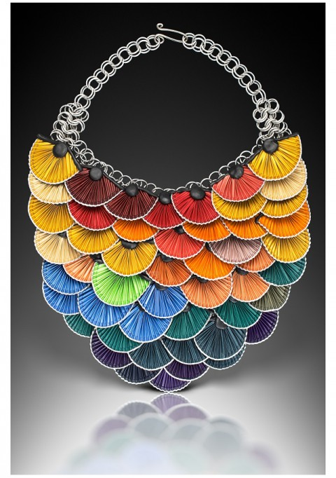 Kathleen Tucci recycled jewelry hummingbird necklace