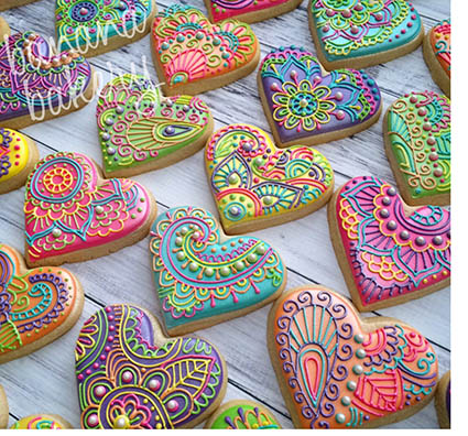 Banana Bakery dallas mendhi cookies - Captivating Cookie Collections