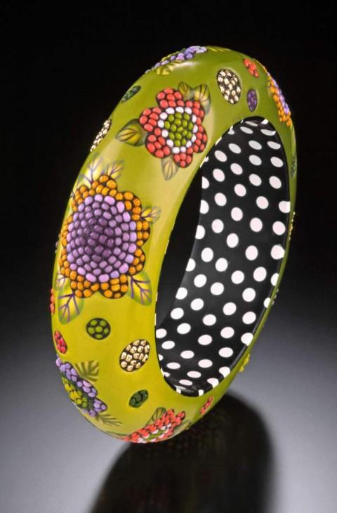 green-mosaic-bangle