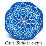 PCW blue string art cane