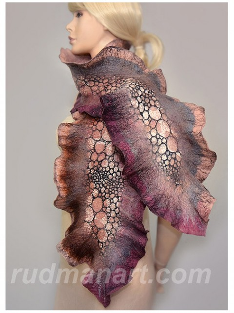 rudmanart felted scarf