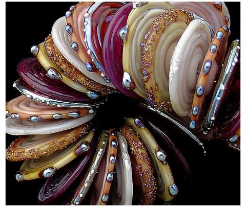 DGS Beads glass set purple