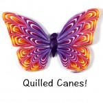 Polymer Clay Workshops Aug 2015 Quilled Cane Butterfly 150x150 - Outside Inspiration: Organic Disks in Glass
