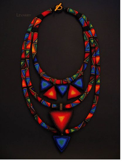 Levarry beaded triangles 430x555 - Trilateral Glow