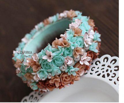 zafrika flower bracelet 430x358 - Riotous Floral