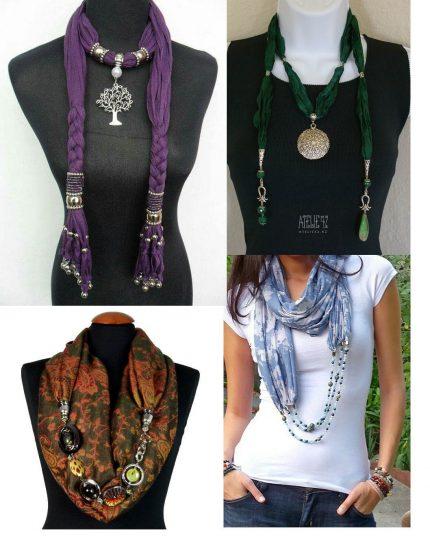 scarf jewelry 430x542 - Scarf as Necklace